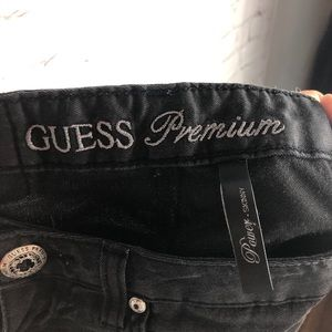 Guess Jeans - Guess Black Power Skinny Wax Jeans Size 25